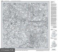 Aldershot & Guildford (1810) Old Edition Folded Sheet Map