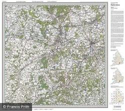 Aldershot & Guildford (1919) Popular Edition Folded Sheet Map