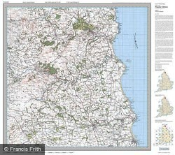 Alnwick & Morpeth (1925) Popular Edition Folded Sheet Map