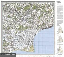 Ashford & Romney Marsh (1920) Popular Edition Folded Sheet Map