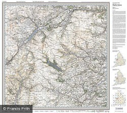 Bala & Lake Vyrnwy (1921) Popular Edition Folded Sheet Map