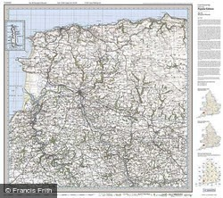 Barnstaple & Ilfracombe (1919) Popular Edition Folded Sheet Map