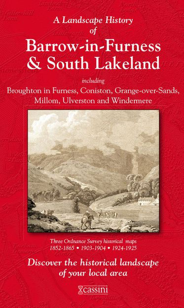 Barrow-in-Furness & South Lakeland (1852) 3-Map Boxed Sets Folded Sheet Map