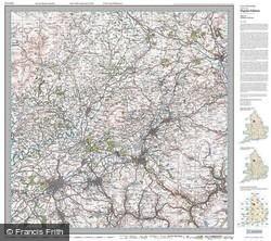 Blackburn & Burnley (1924) Popular Edition Folded Sheet Map