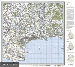 Bournemouth & Purbeck (1919) Popular Edition Folded Sheet Map