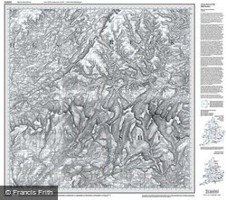 Brecon Beacons (1830) Old Edition Folded Sheet Map