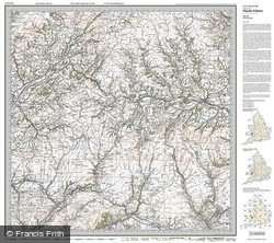 Brecon Beacons (1919) Popular Edition Folded Sheet Map