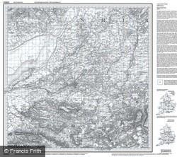 Bristol & Bath (1817) Old Edition Folded Sheet Map