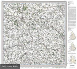 Bury St Edmunds (1920) Popular Edition Folded Sheet Map