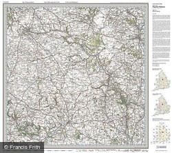 Buxton & Matlock (1921) Popular Edition Folded Sheet Map