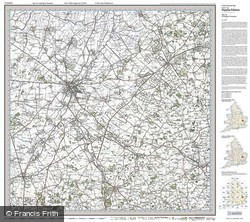 Cambridge & Newmarket (1919) Popular Edition Folded Sheet Map