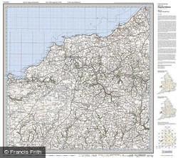 Cardigan & Mynydd Preseli (1922) Popular Edition Folded Sheet Map