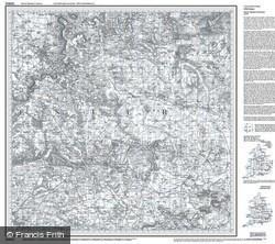 Cheltenham & Cirencester (1828) Old Edition Folded Sheet Map