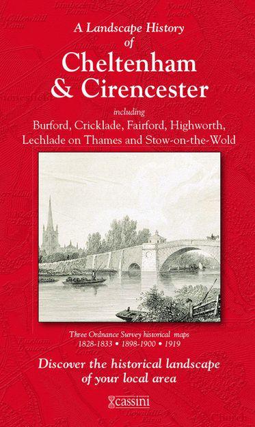 Cheltenham & Cirencester (1828) 3-Map Boxed Sets Folded Sheet Map