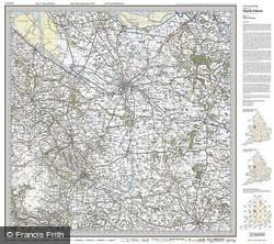 Chester & Wrexham (1921) Popular Edition Folded Sheet Map