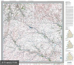 Cheviot Hills & Kielder Water (1925) Popular Edition Folded Sheet Map
