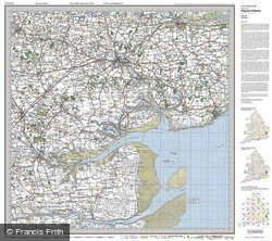 Colchester (1921) Popular Edition Folded Sheet Map