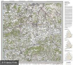 Dorking & Reigate (1920) Popular Edition Folded Sheet Map
