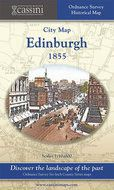 Old Folded Sheet Map of Edinburgh 1855, 1855
