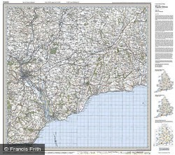 Exeter & Sidmouth (1919) Popular Edition Folded Sheet Map