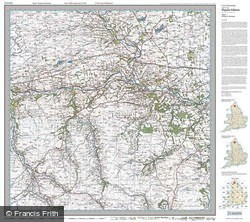 Hexham & Haltwhistle (1925) Popular Edition Folded Sheet Map