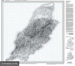 Isle of Man (1874) Old Edition Folded Sheet Map
