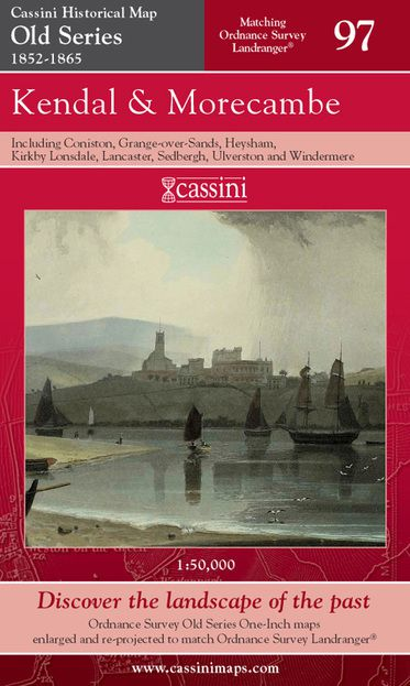 Kendal & Morecambe (1852) Old Edition Folded Sheet Map