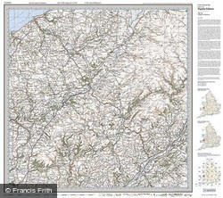 Lampeter & Llandovery (1923) Popular Edition Folded Sheet Map