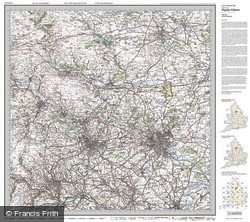 Leeds & Bradford (1925) Popular Edition Folded Sheet Map
