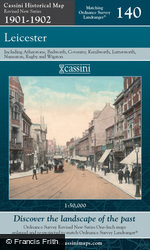 Leicester (1901) Revised New Colour Edition Folded Sheet Map