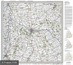 Lincoln & Newark-on-Trent (1921) Popular Edition Folded Sheet Map