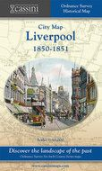 Old Folded Sheet Map of Liverpool 1850-1851, 1850