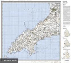 Lleyn Peninsula (1922) Popular Edition Folded Sheet Map