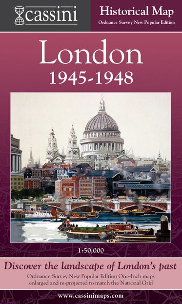 London 1946-1948 (1946) London Folded Sheet Map