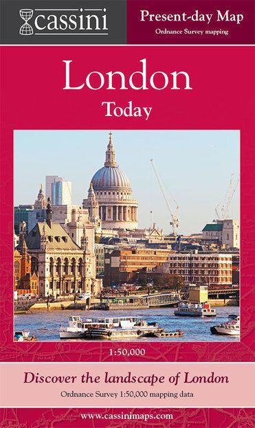 London, Present Day (0) London Folded Sheet Map