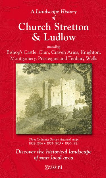 Ludlow & Church Stretton (1832) 3-Map Boxed Sets Folded Sheet Map