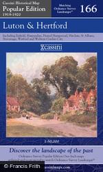 Luton & Hertford (1919) Popular Edition Folded Sheet Map