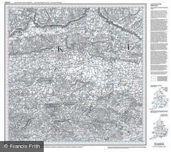 Maidstone & Royal Tunbridge Wells (1813) Old Edition Folded Sheet Map