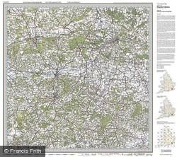 Maidstone & Royal Tunbridge Wells (1920) Popular Edition Folded Sheet Map