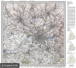 Manchester (1923) Popular Edition Folded Sheet Map