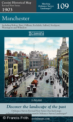 Manchester (1903) Revised New Colour Edition Folded Sheet Map