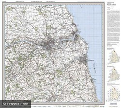 Newcastle upon Tyne (1925) Popular Edition Folded Sheet Map