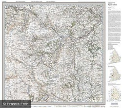Newtown & Llanidloes (1920) Popular Edition Folded Sheet Map
