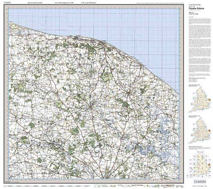North Norfolk Stories: North East Norfolk (1921) Popular Edition Folded Sheet Map