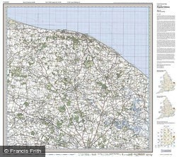 North East Norfolk (1921) Popular Edition Folded Sheet Map