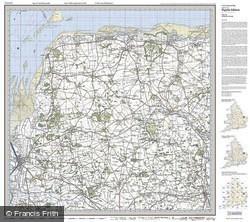 North West Norfolk (1921) Popular Edition Folded Sheet Map