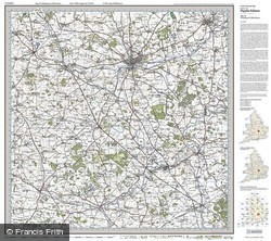 Northampton & Milton Keynes (1919) Popular Edition Folded Sheet Map