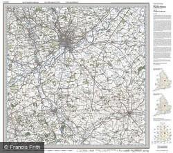 Nottingham & Loughborough (1921) Popular Edition Folded Sheet Map