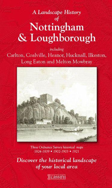 Nottingham & Loughborough (1824) 3-Map Boxed Sets Folded Sheet Map