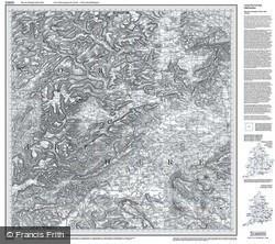 Presteigne & Hay-on-Wye (1831) Old Edition Folded Sheet Map